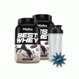 Best Whey (907g) 2 unidades + Coqueteleira