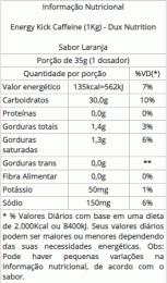 Energy Kick Caffeíne (1Kg) lara